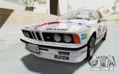 BMW M635 CSi (E24) 1984 HQLM PJ1 para o motor de GTA San Andreas