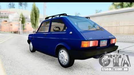 Fiat 147 Spazio TR Stock para GTA San Andreas esquerda vista