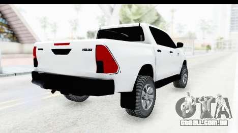 Toyota Hilux 2016 para GTA San Andreas vista direita