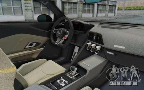 Audi R8 V10 Plus 2017 para GTA San Andreas vista traseira