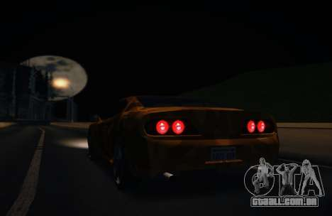 Camo. para GTA San Andreas traseira esquerda vista