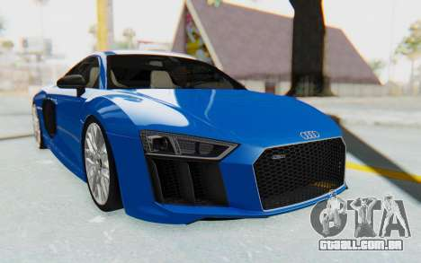 Audi R8 V10 Plus 2017 para vista lateral GTA San Andreas