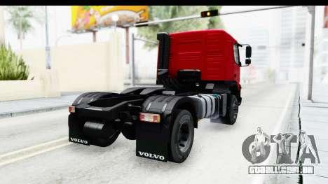 Volvo FMX Euro 5 v2.0 para GTA San Andreas esquerda vista