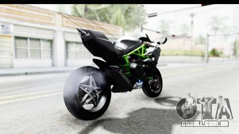 Kawasaki Ninja H2R Black para GTA San Andreas traseira esquerda vista