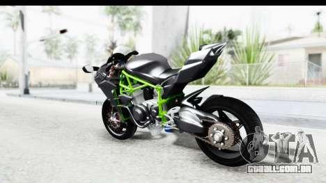 Kawasaki Ninja H2R Black para GTA San Andreas esquerda vista