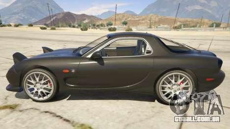 GTA 5 2002 Mazda RX-7 Spirit R Type vista lateral esquerda