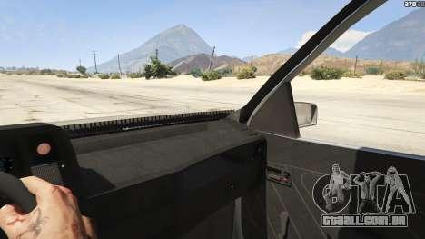 GTA 5 Chevrolet Kadett SL 2.0 Lowered traseira direita vista lateral