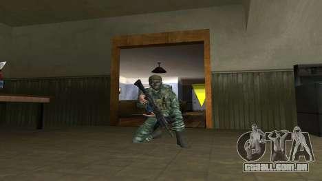 O airborne soldado na camuflagem de bétula para GTA San Andreas terceira tela