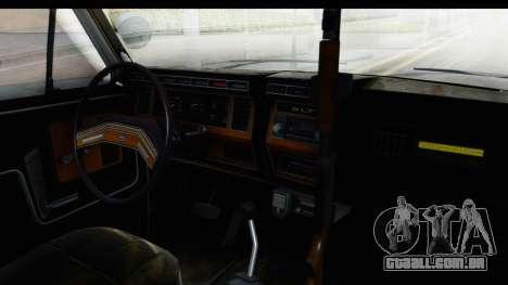 Ford Bronco 1982 Police para GTA San Andreas vista interior