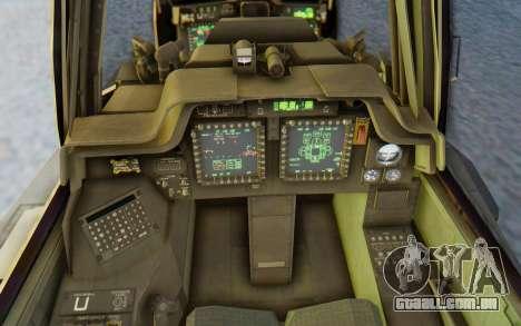 AH-64 Apache Marines para GTA San Andreas vista interior