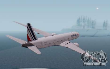 Boeing 777-300ER France Air para GTA San Andreas vista direita