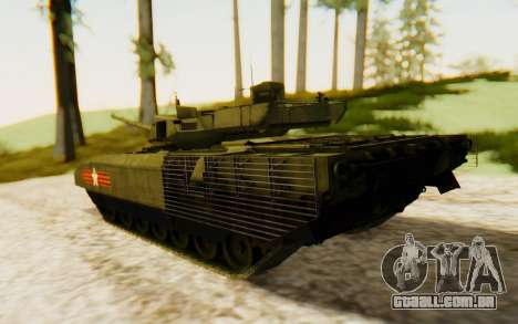 T-14 Armata para GTA San Andreas esquerda vista