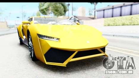 GTA 5 Pegassi Reaper v2 IVF para GTA San Andreas vista traseira