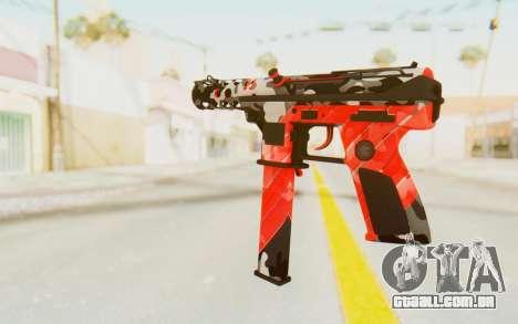 Tec-9 Neural Red para GTA San Andreas segunda tela