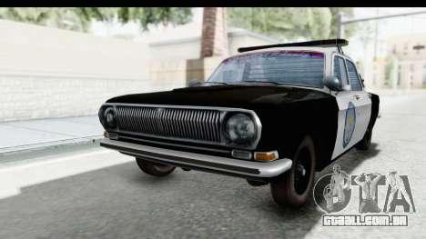 ГАЗ 24 de Polícia rodoviária Patrol para GTA San Andreas