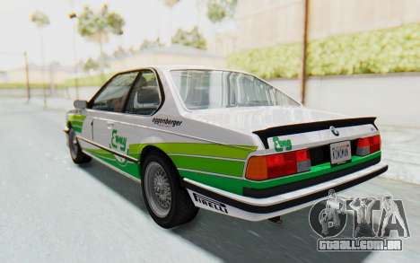 BMW M635 CSi (E24) 1984 HQLM PJ2 para as rodas de GTA San Andreas
