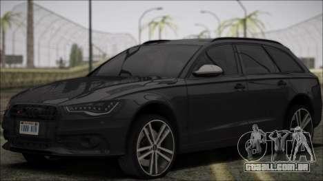 Audi S6 para GTA San Andreas vista interior