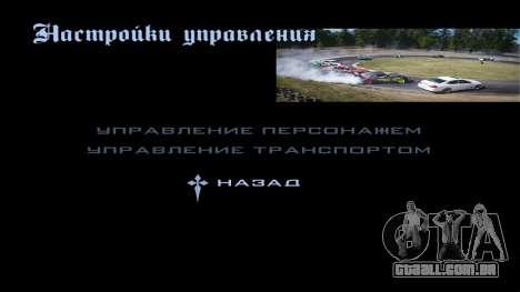 New menu para GTA San Andreas sexta tela