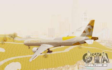 Boeing 777-300ER Etihad Airways para GTA San Andreas esquerda vista