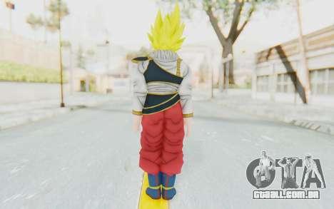 Dragon Ball Xenoverse Goku Yardrat Clothes SSJ para GTA San Andreas terceira tela