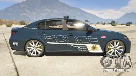 Lexus GS 350 Hot Pursuit Police para GTA 5