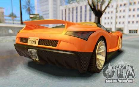 GTA 5 Grotti Cheetah IVF para GTA San Andreas vista direita