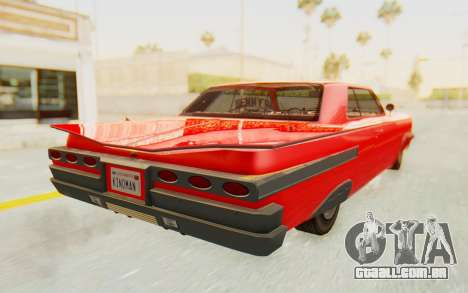 GTA 5 Declasse Voodoo Alternative v2 para GTA San Andreas esquerda vista