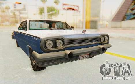 GTA 5 Declasse Voodoo Alternative v2 PJ para GTA San Andreas vista direita