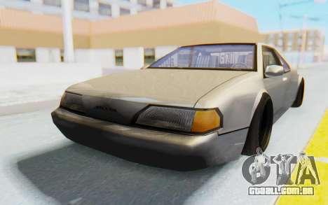 Fortune Wide Body para GTA San Andreas traseira esquerda vista