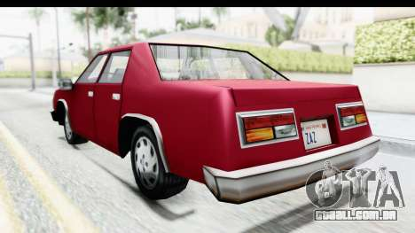 Ford Fairmont from Bully para GTA San Andreas esquerda vista