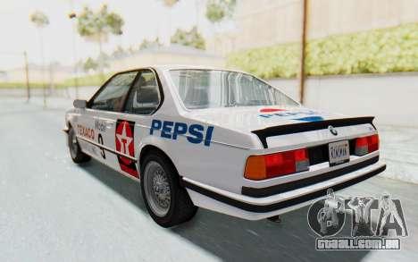 BMW M635 CSi (E24) 1984 HQLM PJ2 para GTA San Andreas vista superior