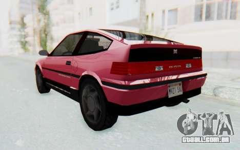 Dinka Blista Compact 1990 para GTA San Andreas esquerda vista