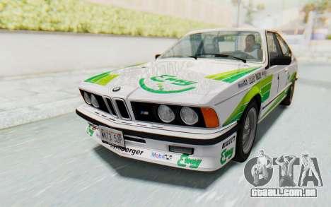 BMW M635 CSi (E24) 1984 HQLM PJ2 para o motor de GTA San Andreas