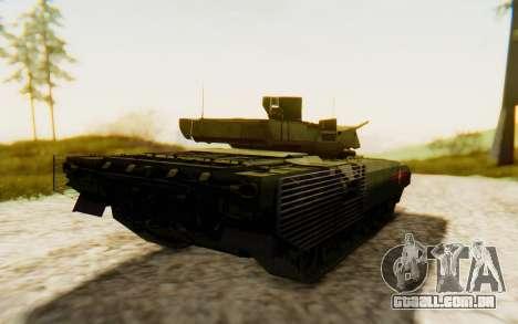 T-14 Armata para GTA San Andreas traseira esquerda vista