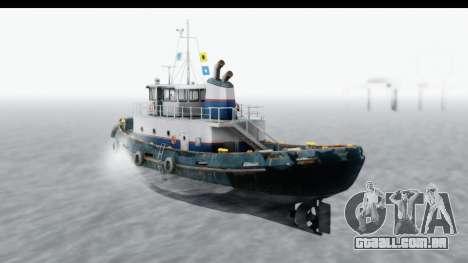 GTA 5 Buckingham Tug Boat v2 para GTA San Andreas esquerda vista