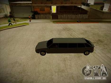 VAZ 2114 Devastadora HQ model para GTA San Andreas vista traseira