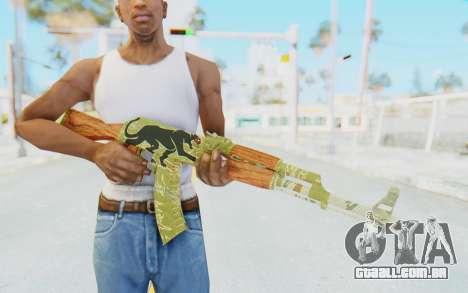 CS:GO - AK-47 Jaguar para GTA San Andreas terceira tela