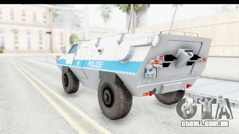 Hermelin TM170 Polizei para GTA San Andreas esquerda vista
