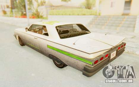 GTA 5 Declasse Voodoo Alternative v2 PJ para GTA San Andreas vista inferior