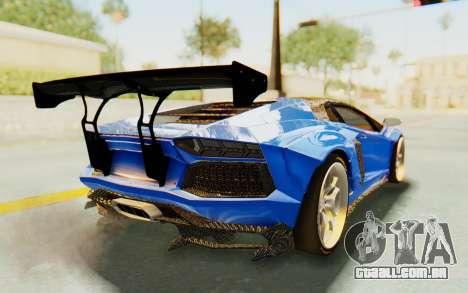 Lamborghini Aventador LP700-4 LB Walk Fenders para GTA San Andreas vista interior
