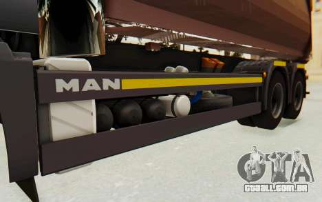 MAN TGA Energrom Edition v2 para GTA San Andreas vista interior