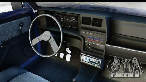 Fiat 147 Spazio TR Stock para GTA San Andreas vista interior