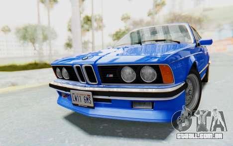 BMW M635 CSi (E24) 1984 HQLM PJ1 para GTA San Andreas vista direita