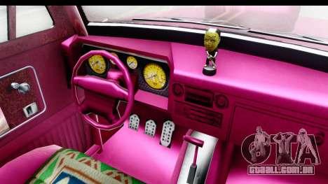GTA 5 Vapid Slamvan Custom IVF para GTA San Andreas vista interior