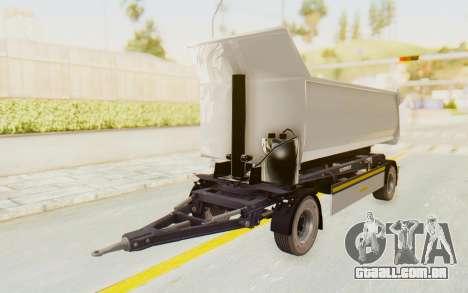 MAN TGA Energrom Edition Trailer v2 para GTA San Andreas traseira esquerda vista