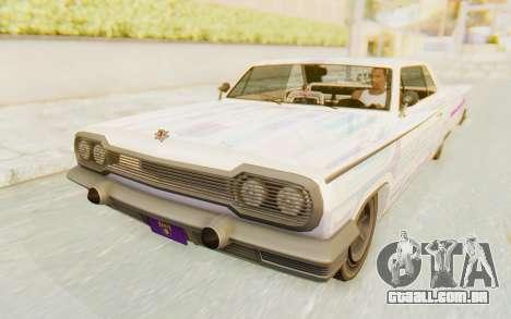 GTA 5 Declasse Voodoo para GTA San Andreas vista inferior