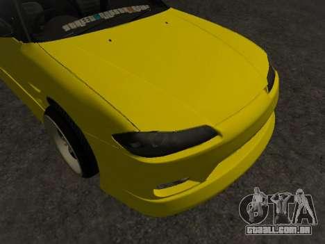 Nissan Silvia S15 para GTA San Andreas vista inferior