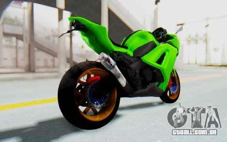 Kawasaki Ninja 250 Abs Streetrace para GTA San Andreas esquerda vista
