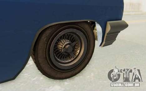 GTA 5 Declasse Voodoo Alternative v2 PJ para GTA San Andreas vista traseira