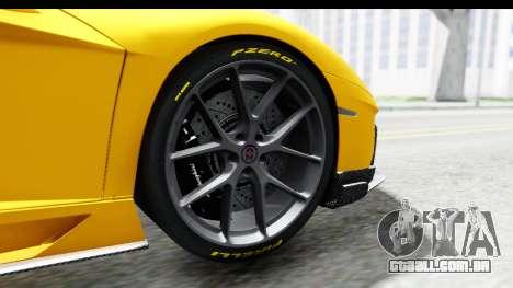 Lamborghini Aventador LP700-4 LB Walk para GTA San Andreas vista interior